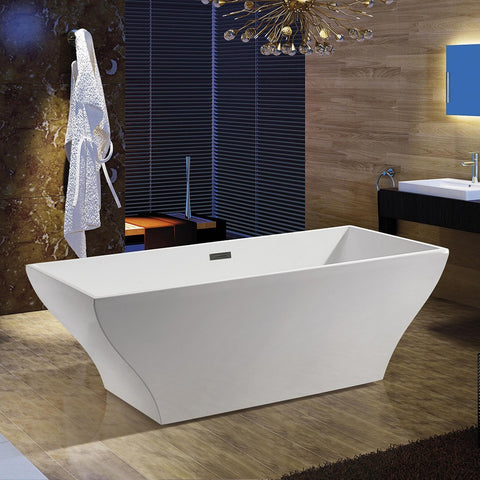 "AKDY 67"" Freestanding Soaking Bathtub AZ-F296A"