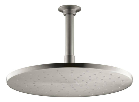 "Kohler 12"" Contemporary Round Rain Showerhead - Vibrant Brushed Nickel"