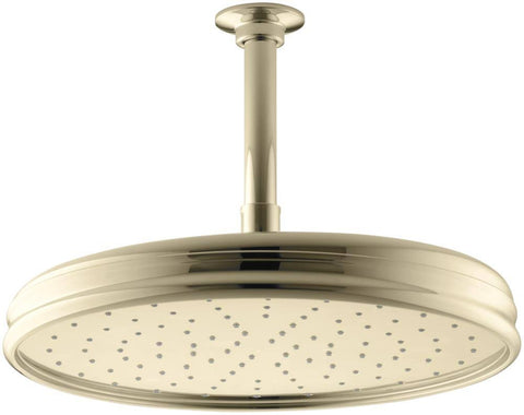"Kohler 12"" Traditional Round Rain Showerhead - Vibrant French Gold"
