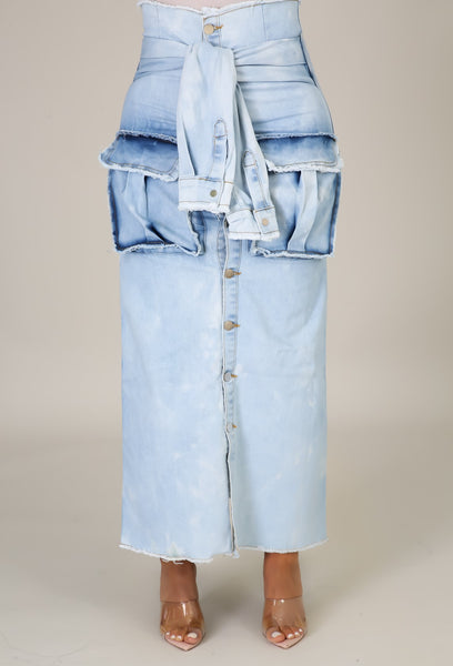 Around the Way Denim Skirt