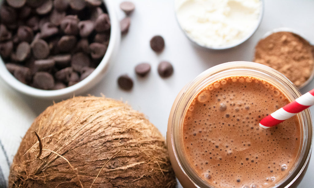 Chocolate Coconut Cake Batter Protein Shake