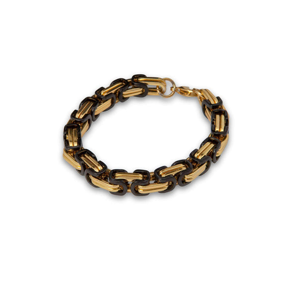 Reverse Black and Gold Chain Bracelet