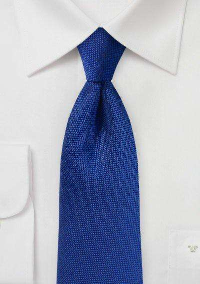 Marine Blue MicroTexture Necktie - Men Suits