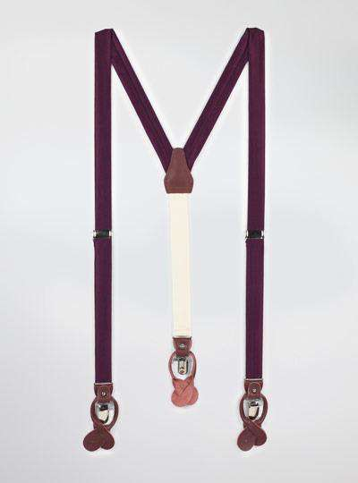 Solid Satin Suspenders