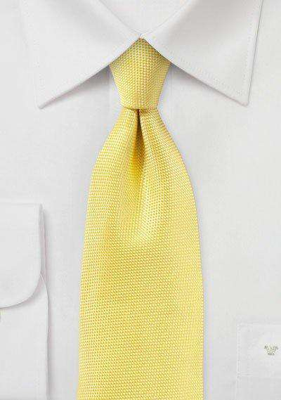 Sun Yellow MicroTexture Necktie - Men Suits
