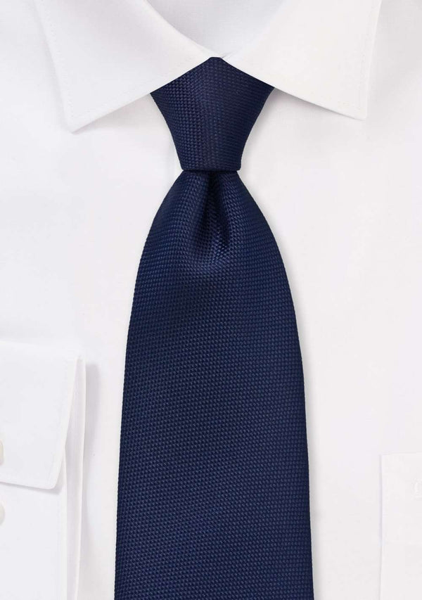 Midnight Blue MicroTexture Necktie - Men Suits
