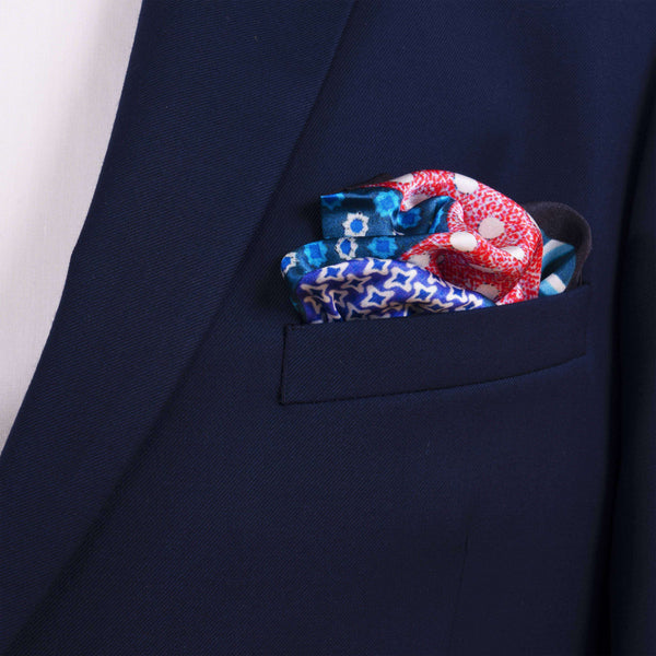 Dots and Stripes Pocket Square - Men Suits