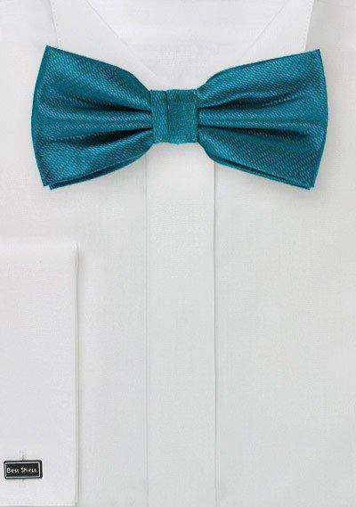 Tealness Small Texture Bowtie