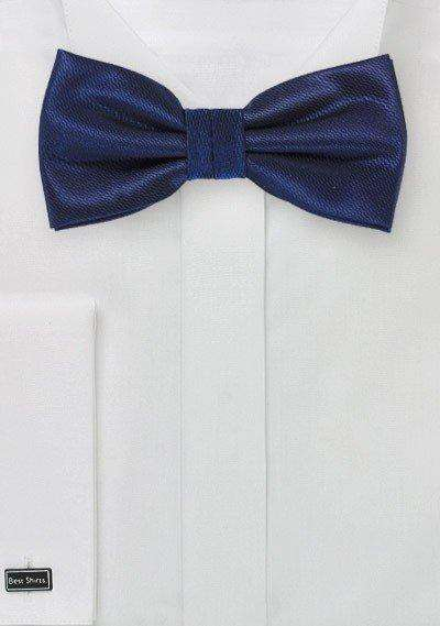 Navy Small Texture Bowtie