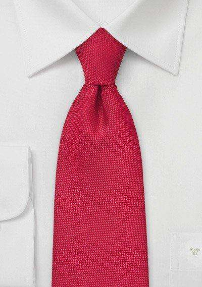 Bright Red MicroTexture Necktie