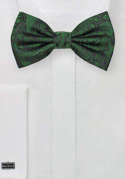 Forest Floral Paisley Bowtie - Men Suits
