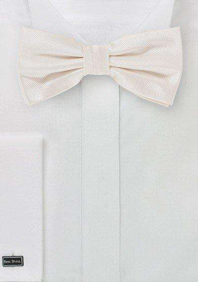 Ivory Small Texture Bowtie - Men Suits