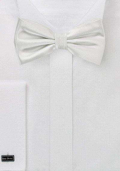 Ivory Solid Bowtie - Men Suits