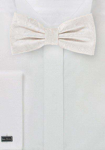 Ivory Proper Paisley Bowtie - Men Suits