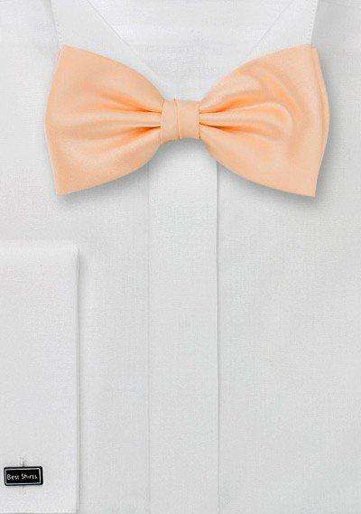 Peach Apricot Solid Bowtie