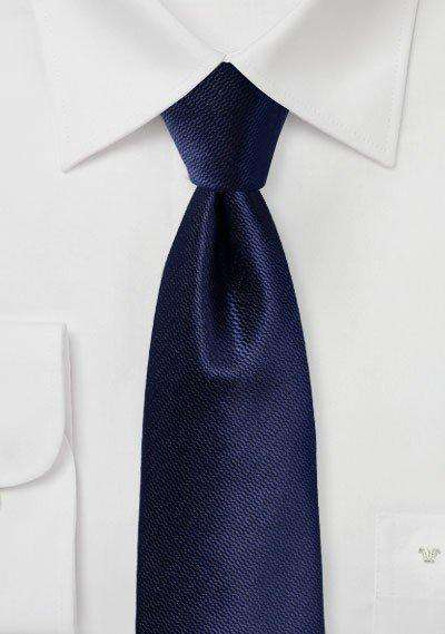 Classic Navy Small Texture Necktie - Men Suits