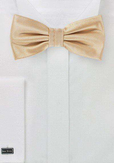Golden Champagne Small Texture Bowtie - Men Suits