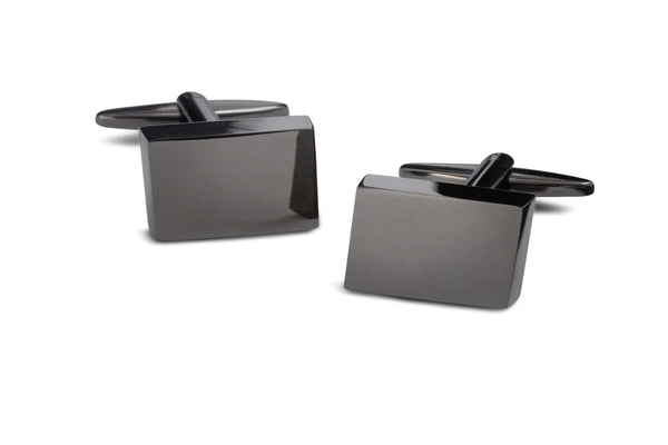 Modern Gunmetal Square Cufflinks - Men Suits
