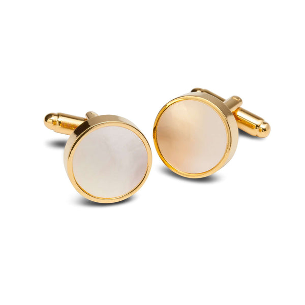 Opaque Gold Rimmed Cufflinks - Men Suits
