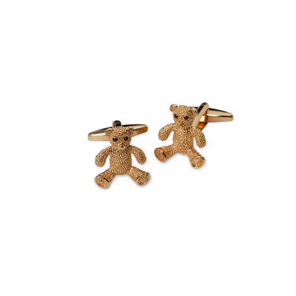 Gold Teddy Bear Cufflinks - Men Suits