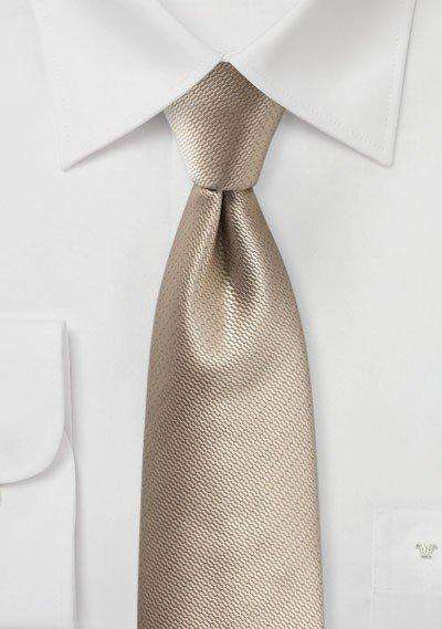 Golden Small Texture Necktie - Men Suits