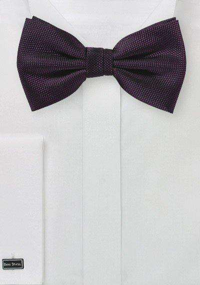 Grape Purple MicroTexture Bowtie