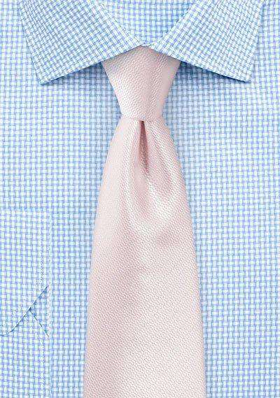 Blush Pink Small Texture Necktie - Men Suits