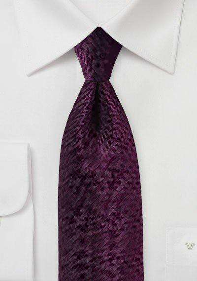 Grape Purple Herringbone Necktie - Men Suits
