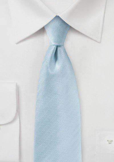Powder Blue Herringbone Necktie - Men Suits