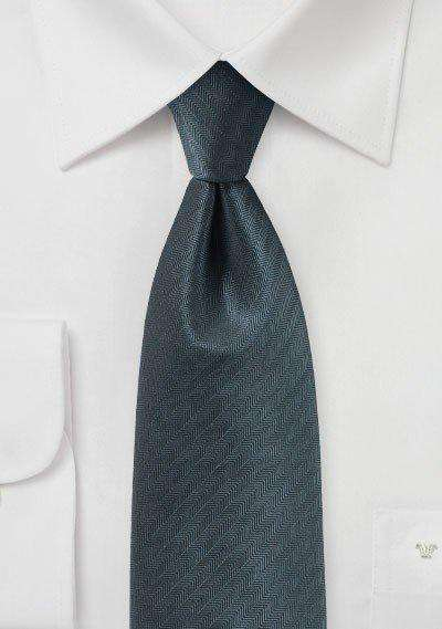 Smoke Gray Herringbone Necktie