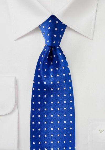Horizon Blue Polka Dot Necktie
