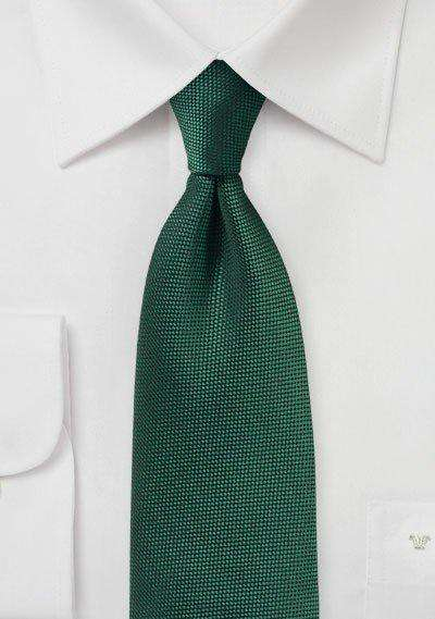 Hunter Green MicroTexture Necktie - Men Suits