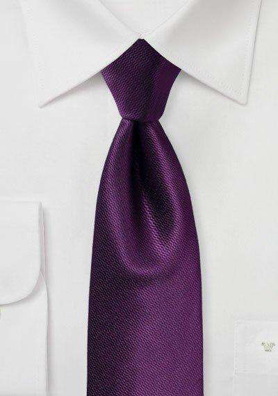 Italian Plum Small Texture Necktie - Men Suits