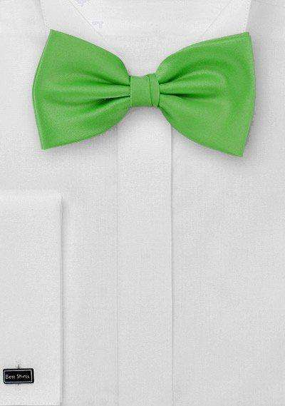 Kelly Green Solid Bowtie - Men Suits