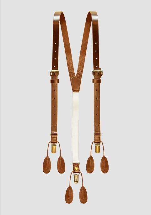Leather Suspenders - Men Suits