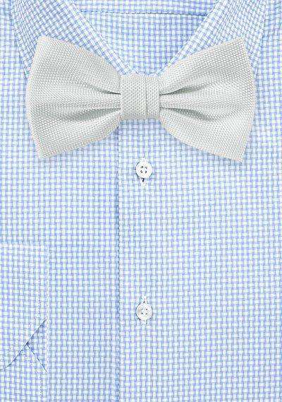 Ivory MicroTexture Bowtie - Men Suits