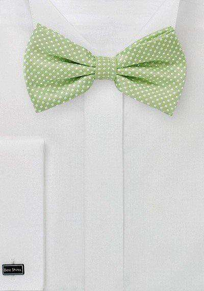 Sage Green Pin Dot Bowtie