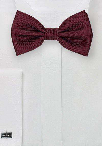 Burgundy MicroTexture Bowtie - Men Suits