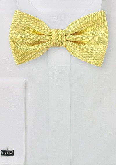 Sun Yellow MicroTexture Bowtie - Men Suits