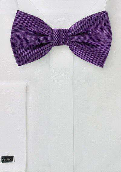Violet MicroTexture Bowtie - Men Suits