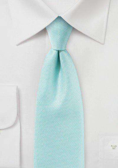Pool Blue MicroTexture Necktie - Men Suits