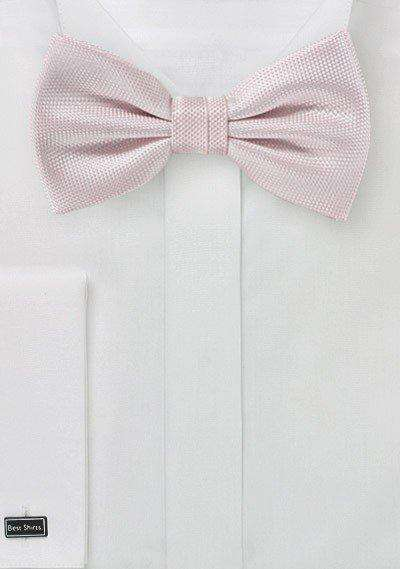 Blush MicroTexture Bowtie - Men Suits