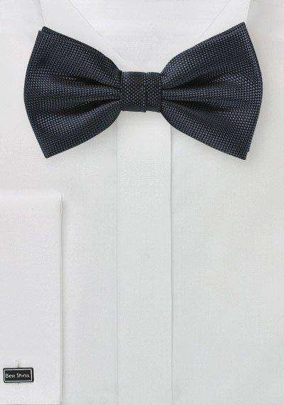 Smoke Gray MicroTexture Bowtie - Men Suits