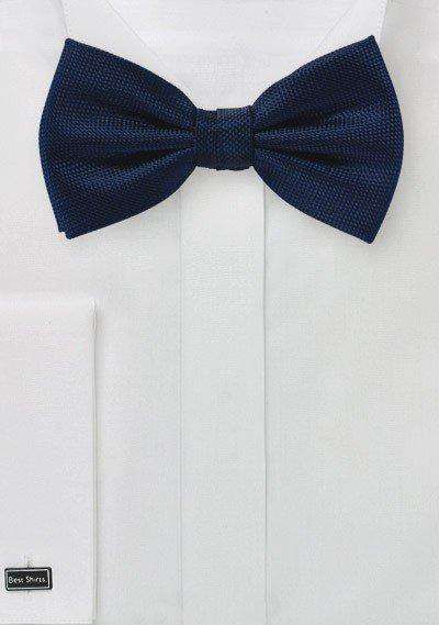Midnight Blue MicroTexture Bowtie - Men Suits
