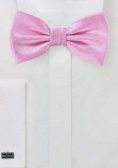 Carnation Herringbone Bowtie - Men Suits