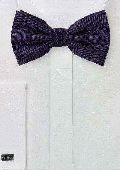 Majesty Purple MicroTexture Bowtie
