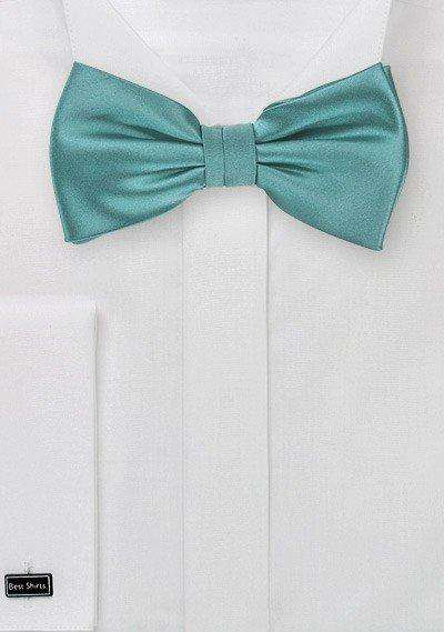 Teal Solid Bowtie