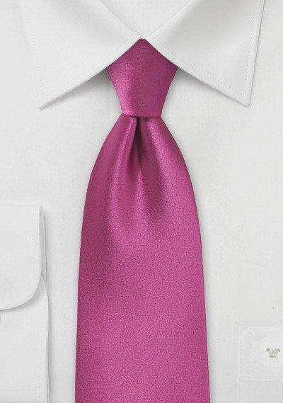 Fuchsia Solid Necktie - Men Suits