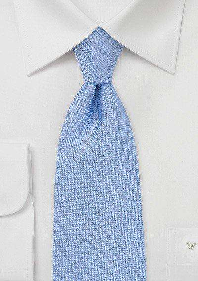 Sky Blue MicroTexture Necktie - Men Suits