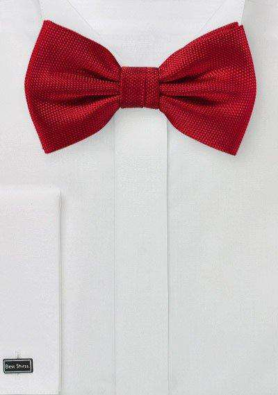 Bright Red MicroTexture Bowtie